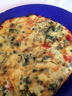 La frittata Di uova con verdure.