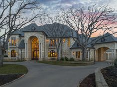 The property 4704 Bill Simmons Rd, Colleyville, TX 76034 is currently not for sale on Zillow. View details, sales history and Zestimate data for this property on Zillow. New Home Designs, Cool House Designs, Stone Mansion, Dream House Exterior, Mediterranean Homes, French Chateau, House Layouts, Estate Homes, Luxury Real Estate