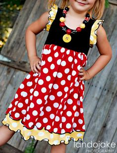 All About Dots Minnie Flutter Dress by Bridgetandcompany on Etsy, $55.00 .. Rae's Halloween costume!