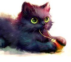What a cute cat :)