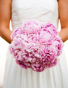 Wedding bouquet- Pink Peony bouquet - round bouquet style