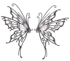 Butterfly wings photo: Tattoo design i drew. This photo was uploaded by Jonathan2051  -  these look like faery wings, just  the inspiration  I need.    ldcd