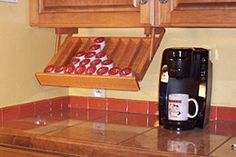 Ultimate Kitchen Storage K-Kup Coffee Keeper..A bright idea in kitchen storage and housewares!