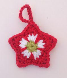 Crochet Star, free pattern by Jo Degenhart: thanks so xox