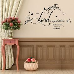 Hey, I found this really awesome Etsy listing at https://www.etsy.com/uk/listing/256338962/psalm-23-v-1-bible-quote-vinyl-wall-art