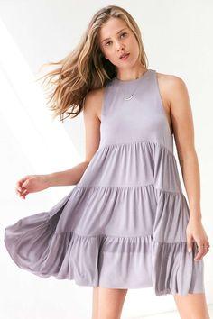 Silence + Noise Lidia Tiered Knit Mini Dress