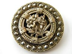 $38.99 vintage brass cut steel button