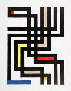 Walter Dexel, Bandwerk offen, 1965. Germany. Via Hesse Auktionen
