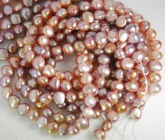 Full 14 inch strand 7X8mm nugget freshwater pearls by JWbeads, $4.60
