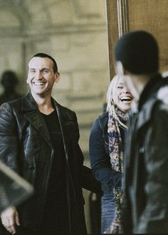 Nine, Rose and Mickey - Doctor Who