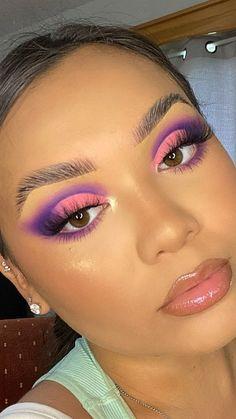 Cute Makeup Looks, Makeup Eye Looks, Beautiful Eye Makeup, Eye Makeup Art, Skin Makeup, Mermaid Eye Makeup, Makeup Brushes, Spring Eye Makeup, Crazy Eye Makeup