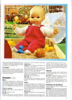 Album Archive - dressing up for dolls Knitting Dolls Clothes, Baby Doll Clothes, Knitted Dolls, Doll Clothes Patterns, Doll Patterns, Clothing Patterns, Knitted Baby, Dressing, Patch Kids