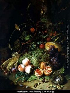 Still-Life-of-Fruit-with-a-Birds-Nest-and-Insects,-1710