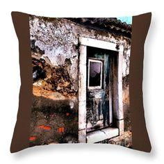 Throw Pillow featuring the photograph Abandoned 02 by Dora Hathazi Mendes #homedecore #throwpillow #dorahathazi