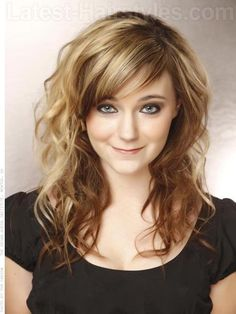 Long Brown Shag Cut With Curls and Bangs This is EXACTLY how I want my hair to look!