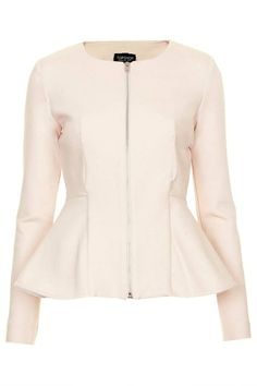 Slim Peplum Jacket from Topshop Look Blazer, Peplum Blazer, Peplum Jacket, Blazer Jacket, Preppy Girl Outfits, Petite Outfits, Stylish Outfits, Cool Outfits, Inverted Triangle Outfits