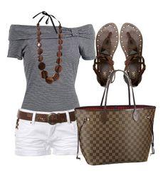 Louis Vuitton Damier Ebene Canvas Neverfull Bags N51105