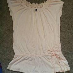 Gap size s. Comfortable fit . Light weight . Gap short sleeve cotton top pale pink elastic waist line great comfort GAP Tops