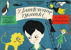 more terry's posters Vintage Drawing, Vintage Art, Vintage Style, Polish Posters, Retro Kids, Children's Book Illustration, Pretty Art, Letterpress, Vintage Posters
