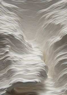 Topographic Paper Landscapes by Noriko Ambe