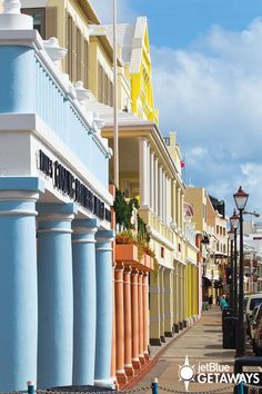 Visit colorful Front Street in the city of Hamilton, Bermuda. Bermuda is just a short flight from New York or Boston. Experience its beauty with a JetBlue Getaways vacation (air + hotel).