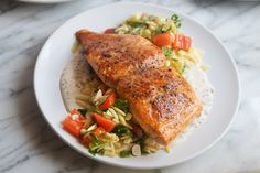 Pan Roasted Salmon with Orzo Succotash - Giadzy - Giada De Laurentiis