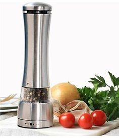 This Pepper Grinder is gravity operated. Simply flip or invert to activate for effortless one-handed dispensing of your seasonings.
