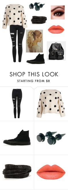 """Untitled #41"" by therealcheesequake on Polyvore featuring Topshop, Converse, Pieces and Coach"