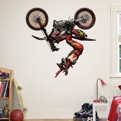 Must have this for the boys' bedroom! Fathead sticker: Brian Deegan - Motocross