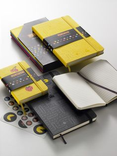 Limited Edition Pacman moleskin notebooks! $15