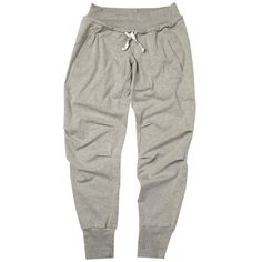Freddy Jersey Cuffed Capri Pants, Grey Melange ($85) ❤ liked on Polyvore featuring activewear, activewear pants, pants, bottoms, sweatpants, sweats, gray sweatpants, cuff sweat pants, freddy y drawstring sweatpants