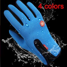 Waterproof Mens Womens Winter Ski Warm Gloves Motorcycle Touch Driving Gloves x1