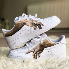 Nike / Luftwaffe - Schoenen - - Nike / Air Force - Schoenen - How should the selection of shoes be? Sneakers Mode, Custom Sneakers, Sneakers Fashion, Fashion Shoes, Sneakers Vans, Cheap Sneakers, Fashion Outfits, Nike Air Force, Custom Painted Shoes