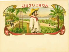 Vegueros cigar labels inner cigar box labels
