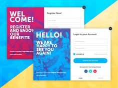 Register and Login designed by Nicolás Scoccimarro. Form Design, Page Design, Ui Forms, Login Design, Form Example, Login Form, Login Page, Web Design Projects, Ui Web