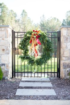 Garden Gate Christmas Wreath