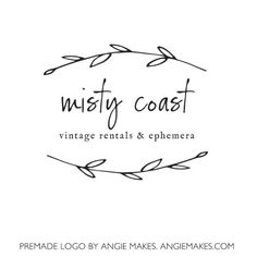 Laurel Premade Logo By Angie Makes
