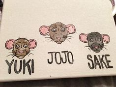 Personalized Rat Painting (My Ratties)