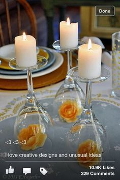 Wine glass table decoration