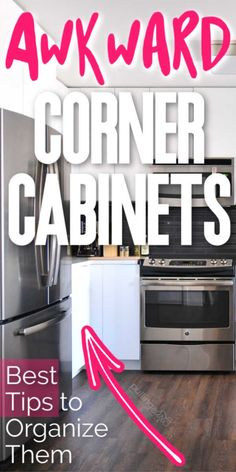 How do you organize that corner cabinet you just hate?  #kitchen #organization