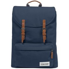 Eastpak London Laptop Backpack (£80) ❤ liked on Polyvore featuring bags, backpacks, opgrade dark, padded bag, knapsack bag, eastpak rucksack, laptop bag and blue backpack