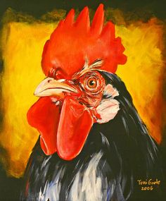 Rooster Paintings | Rooster Painting by Toni Grote - Rooster Fine Art Prints and Posters ...