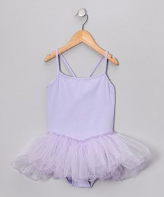 Lavender Skirted Leotard - Toddler  Girls by Seesaws  Slides #zulily #zulilyfinds