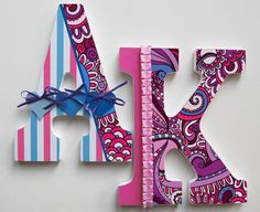 Personalized Custom Name Initials Letters for Nursery or
