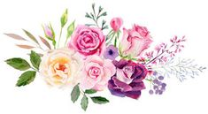 Hand painted watercolor mockup clipart template of roses. Beautiful hand painted watercolor mockup clipart template of roses bouquets and buds for cards, wedding Stock Image Watercolor Drawing, Abstract Watercolor, Watercolor Flowers, Watercolor Paintings, Art Floral, Wedding Drawing, Bouquet Tattoo, Illustration, Clipart