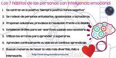 7 hábitos de las personas con inteligencia emocional - Imagenes Educativas