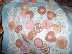 Vintage Martex Kitchen Towel Cookies Label Tag Cottage Sweet 50s Mint Blue EX | eBay