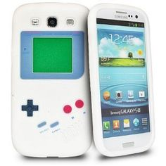 Nintendo Game Boy Soft Skin Silicone Case for Samsung Galaxy - White - Galaxy GAMEBOY DESIGN SILICONE SKIN CASE, This Gameboy design stylish silicone case protects your phone and is also a great addition to enhance the look of your device Retro Videos, Retro Video Games, Game Boy, Smartphone, Galaxy S3 Cases, New Samsung Galaxy, Galaxy Nexus, Phone Organization, Thing 1