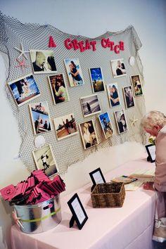 Catch Net Wedding Photo Display
