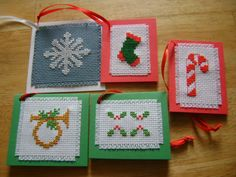 Cross-stitch christmas gifts